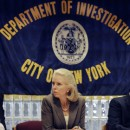 "FOR STORY MOVING SATURDAY BY SAMANTHA GROSS - FILE - In this file photo of  Aug. 15, 2008, New York City's Commissioner of the Dept. of Investigation Rose Gill Hearn attends a meeting in New York. Hearn, whose city agency is tasked with rooting out fraud and corruption among city employees and contractors, says ""We need better accountability and better checks and balances.""  (AP Photo/Richard Drew, File)"