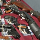 Some of the 354 guns surrendered to the NYPD in a buyback program in the Bronx on June 4, 2011. AP/NYPD.