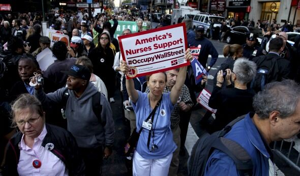 Occupy Wall Street March Goes From Peaceful to Ugly