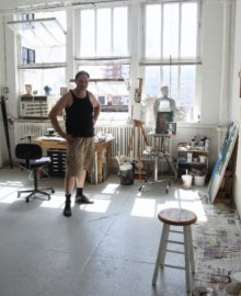 Mixed Media Artist Scotto Mycklebust in his Chelsea Studio. Mycklebust is one of High Line Open Studios founders. Photo Courtesy of Kevin O'Hanlon