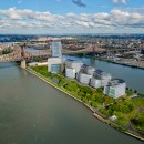 Rendering of Stanford's design for a campus on Roosevelt Island. Image by Redsquare, Inc.