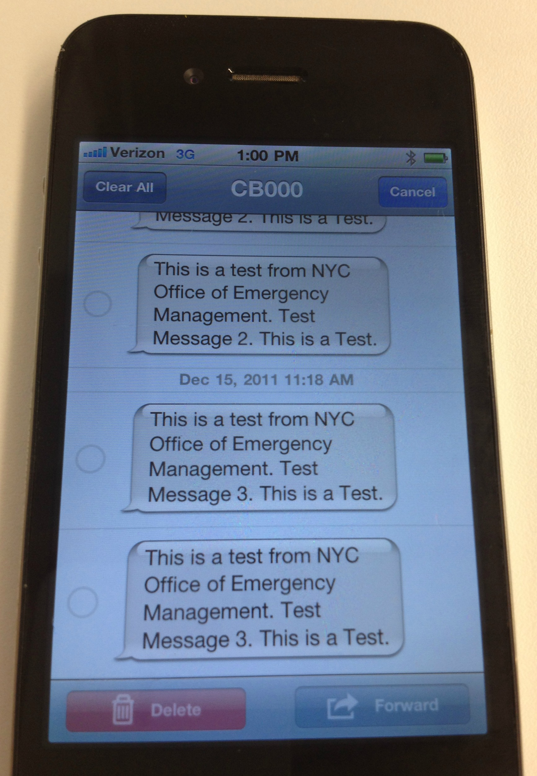 NYC Text Messages Emergency Alerts to Residents