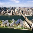 A rendering of Cornell and Technion's plan for the new tech campus on Roosevelt Island. The project is a cornerstone of Mayor Michael Bloomberg's mayoral legacy. Image courtesy of Cornell University.