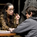TK, portrayed by Janeane Garofalo, scolds her son, tk, after getting involved with his uncle's trade. Photo by ttk.