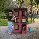 """The Hundred Story House"" is part public sculpture, part book lending library. Photo courtesy of Leon Reid IV."