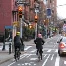The 9th Avenue Bike Lane was partially paid for with federal funds awarded through the Transportation Enhancements program. Flickr/ K_Gradinger