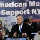 U.S. Rep. Peter King, R-N.Y., chairman of the House Committee on Homeland Security, speaks at a news conference in front of police headquarters in New York on  March 5. King was present with dozens of activists to demonstrate support for the NYPD and their surveillance of Muslim communities. AP/Seth Wenig
