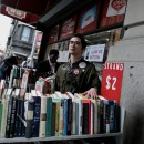 Chris McCallion stands in front his workplace, the iconic Strand Bookstore near Union Square. Strand employees told MetroFocus that a new contract their being offered would pit new and old employees against one another. Photo courtesy of Sam Lewis