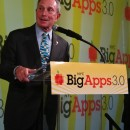 Mayor Bloomberg announces the winners of BigApps 3.0 at the IAC Building. Image courtesy of NYC EDC.