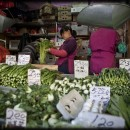 Inexpensive greens at Grand Street market in Chinatown. Photo by Ken Paprocki.