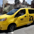 The Nissan NV200, aka the Taxi of Tomorrow, has disability rights advocates protesting its inaccessibility. AP/ Richard Drew.