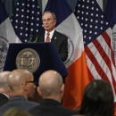 ew York City Mayor Michael Bloomberg presents his proposed executive 2013 New York City budget at City Hall in New York, Thursday, May 3, 2012. The total proposed city budget exceeds $68.7 billion this year and Bloomberg has until the end of June to negotiate a final version with the City Council. AP/Lucas Jackson, Pool