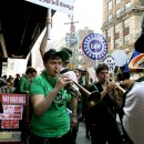 On May 1, unionized workers at the Strand Bookstore formed a picket line in front of their workplace, and were joined by participants from Occupy Wall Street. The Strand's unionized employees' contract expired last September, and they say they're preparing to authorize a strike vote.