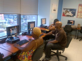 Students hard at work in the ATTAIN program at the Brooklyn Educational Opportunity Center. Photo courtesy of Brooklyn Educational Opportunity Center.