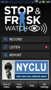 When Can't You Record the Police? A Guide to the Stop and Frisk App