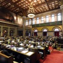 The New York Assembly holds a debate on disclosure of teacher evaluations at the Capitol in Albany, N.Y., on Thursday, June 21, 2012. On the same day, the legislature approved the teacher ratings plan. AP /Tim Roske