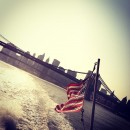 View from the back of the East River Ferry as it cruises from Greenpoint to Midtown. MetroFocus/John Farley