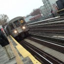 The W train, seen here arriving in Astoria, Queens, was discontinued in 2010 due to budget constraints. Residents want it back. Flickr/ heathbrandon.