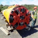 A 48-inch drill head at the 18th Street horizontal directional drill exit site in Jersey City, N.J. Gas pipeline from the New Jersey – New York Expansion Project. Image from the FERC Environmental Compliance Monitoring Program weekly report, Sept. 10-16, 2012.