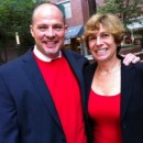 President Michael Mulgrew and AFT President Randi Weingarten wore red Monday to show solidarity with teachers on strike in Chicago. Photo courtesy of Twitter.com/uft via Gotham Schools.