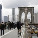 hurricane Sandy. Brooklyn Bridge, traffic