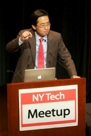 Todd Park, the nation's second-ever chief technology officer, kicked off the October NY Tech Meetup at the Skirball Center at NYU.