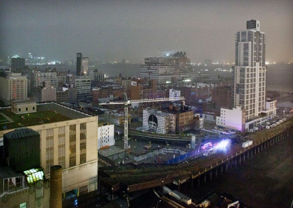 Hurricane Sandy, AP Photo, Manhattan West 20s, near northern part of Highline, transformer exploding
