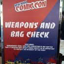 Weapons and Bag Check Comic Con Evan Leatherwood