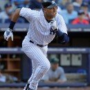 Derek Jeter, who has played by all counts an incredible season this year, runs at Yankee Stadium on Sept. 23, 2012. AP/Kathy Willens.