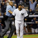 Second baseman Robinson Cano hit a two-run home run in the fifth inning in the game on Oct. 3 that clinched the Yankees' place in the play-off's. AP/Kathy Willens.