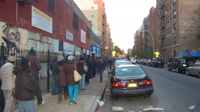 New Yorkers Line Polls to Vote Despite Storm Troubles