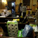Congregation Beth Elohim sends out 10 car loads of supplies a day to areas in need. Image courtesy of Congregation Beth Elohim.
