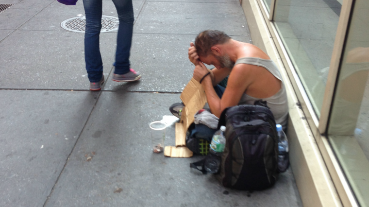 Dramatic Increase in Homeless on Streets of NYC