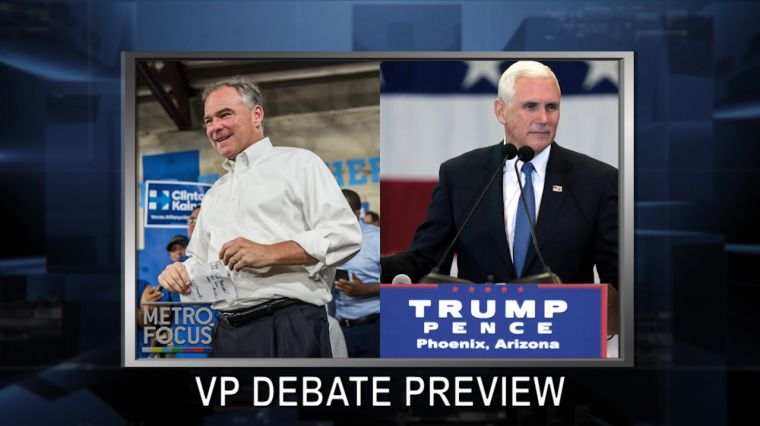 "October 3, 2016: VP Debate Worth the Watch? Best of Enemies. Is America ""Going Backward"" After Diallo? High Holidays Go High Tech."
