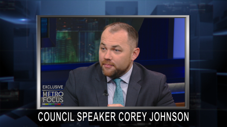 METROFOCUS EXCLUSIVE: COREY JOHNSON, CITY COUNCIL SPEAKER