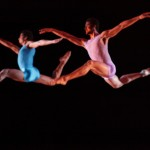 Check out the height these two dancers achieve, and how in sync they are.