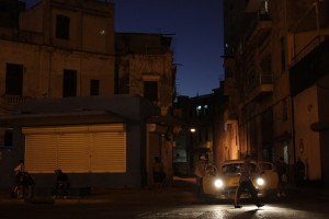 A side street in a quiet section of Havana. What you see in the movies isn't an exaggeration; the 1950s cars are everywhere.