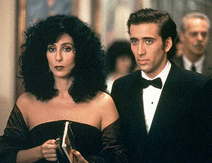 Cher and Nicholas Cage in Moonstruck