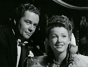 Orson Welles and Anne Baxter in 'The Magnificent Ambersons'