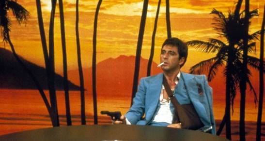 A scene from director Brian De Palma's Scarface. Courtesy of The Metrograph.