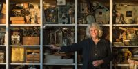 Rosamond Purcell in her studio. Photo by Dennis Purcell. Courtesy of BOND/360