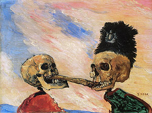 Ensor's Skeletons Fighting
