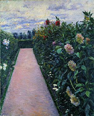 Garden Path with Dahlias in Petit Gennevilliers.