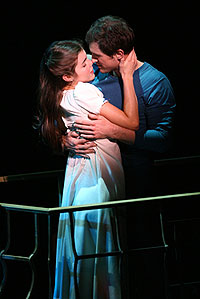 Maria and Tony kiss in West Side Story