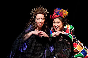 Nina Stemme, left, as Ariadne, and Katheen Kim as Zerbinetta - Photo by Marty Sohl-Metropolitan Opera.