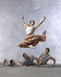 Misty Copeland, Isaac Stappas, Carlos Lopez and Gray Davis in Paul Taylor's Company B.