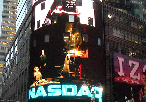More stills of the opera projected in Times Square