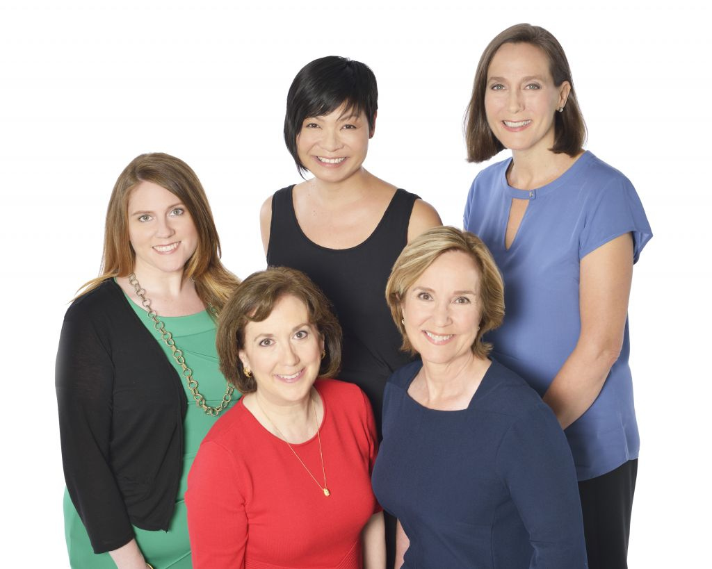 top row: Katie Lander, Lisa Ueki, Shelly Cornell. Bottom row: Allison Fox and Carey Meltze