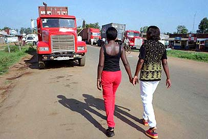 Two Kenyan prostitutes work the main trucking road that cuts across the continent from Djibouti to South Africa.