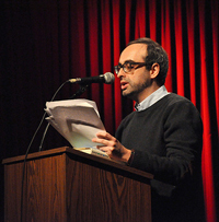 Gary Shteyngart read his novel at the 92nd St. Y in January.